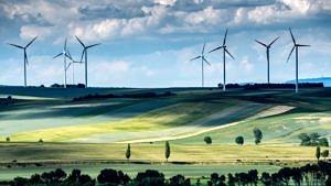 Windräder für nachhaltige Stromerzeugung